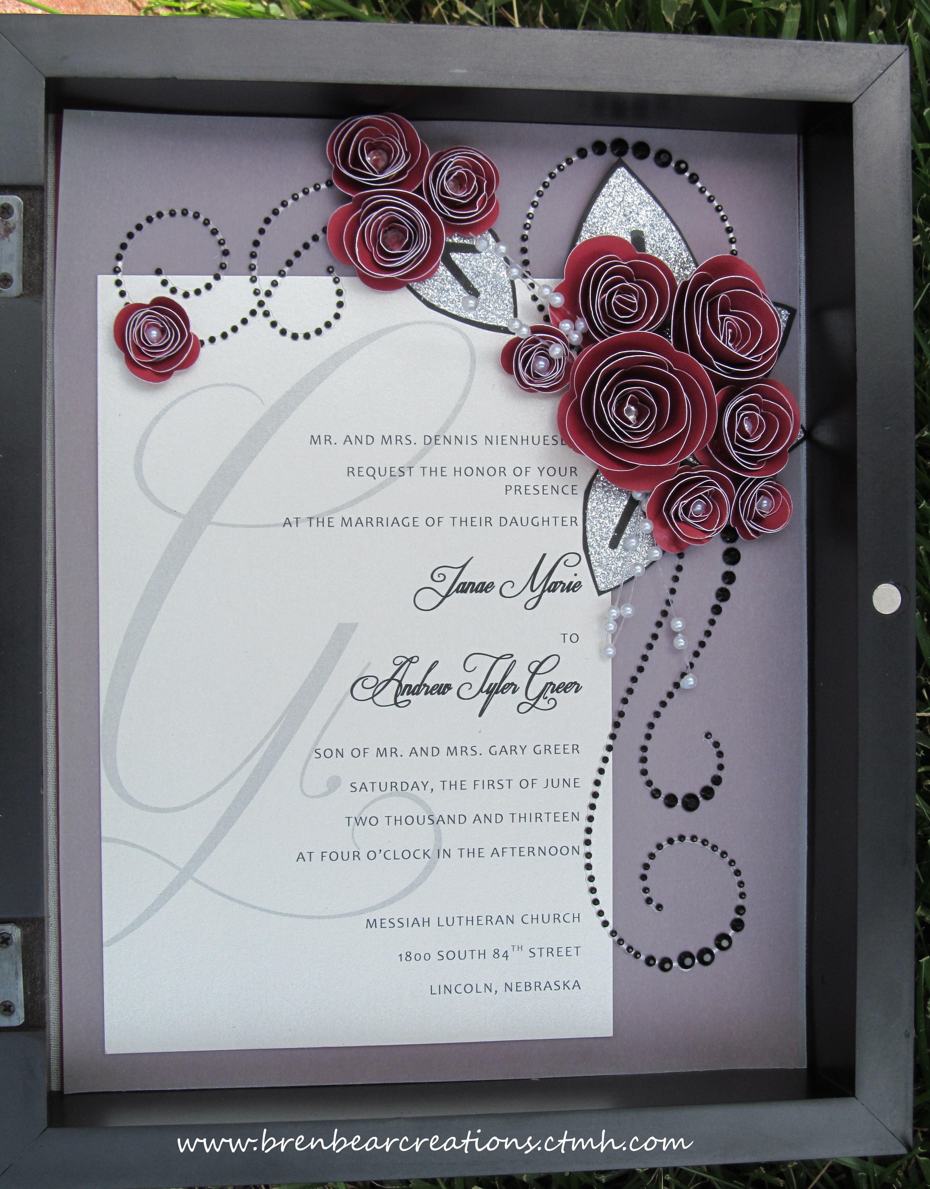 Another Wedding Post Invite Shadow Box Bren Bear Creations